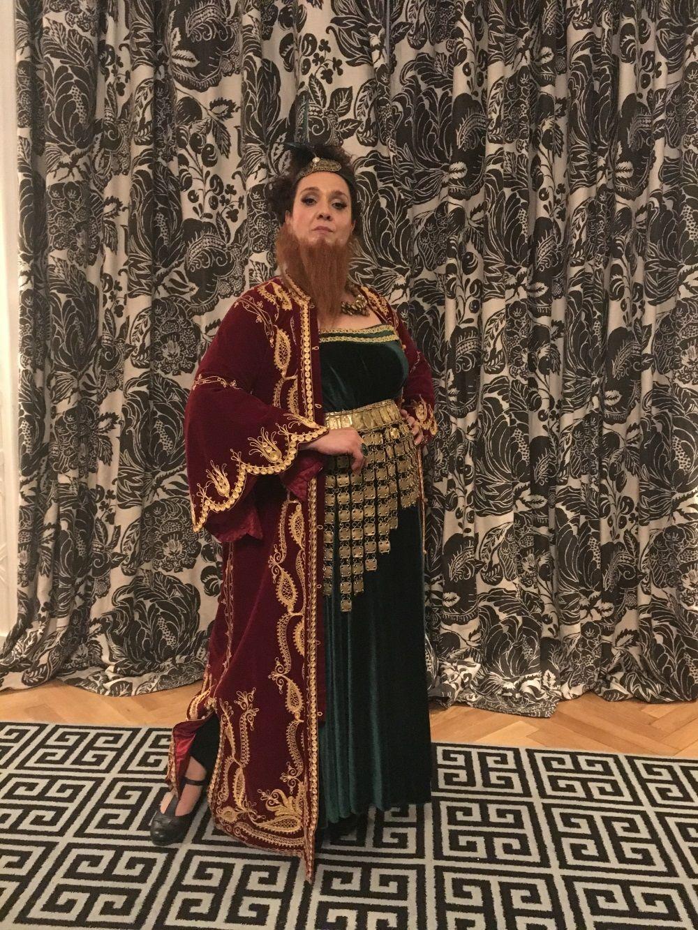 Circus performances - bearded woman