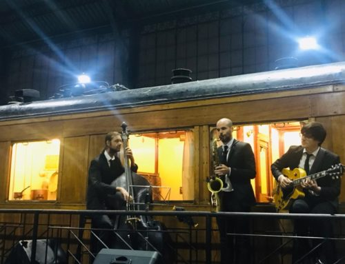 Trío de jazz en el Museo del Ferrocarril