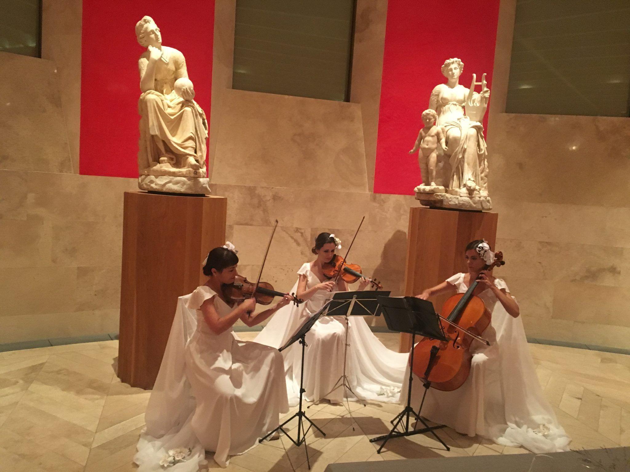 Dancem's string trio at the Prado Museum