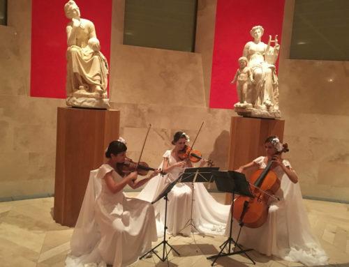 El trío de cuerda de Dancem Espectáculos en el Museo del Prado