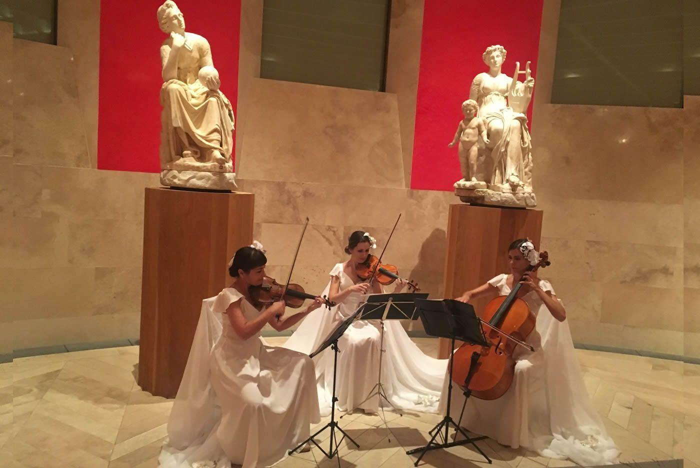 Trio de cuerda de Dancem en el Museo del Prado