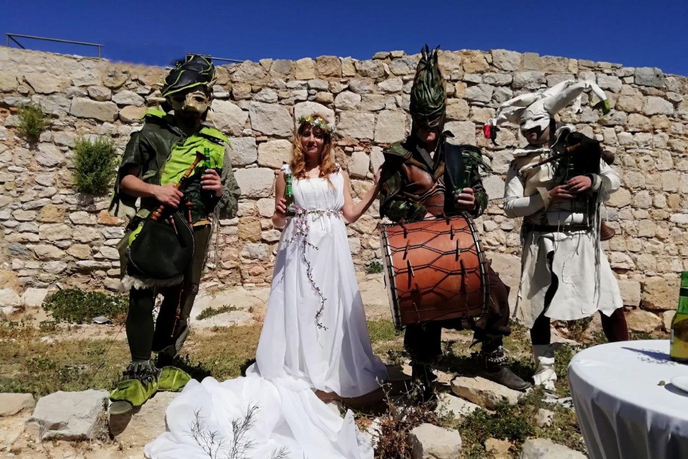 """Dancem ameniza la presentación de la cerveza """"El Alcázar"""", celebrada en El Castillo de Santa Catalina en Jáen para Heineken."""