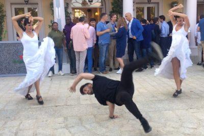 Dancem Espectáculos en un evento de Heineken en los jardines de Duques de Pastrana